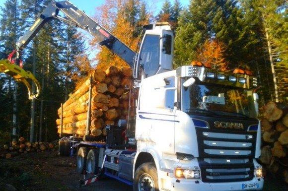 Livraison de bois de chauffage en grumier Ambert