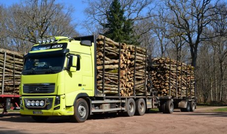 Livraison de bois de chauffage en semi-extensible Ambert